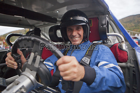 disabled race car driver in modified
