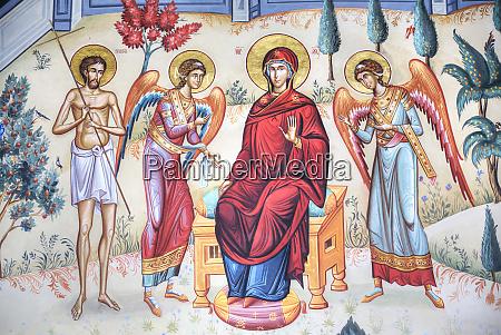 frescoes new st george church 1705