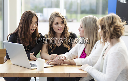a group of business woman being