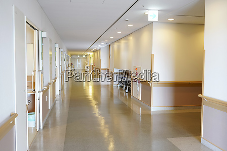 hospital room and corridor door with