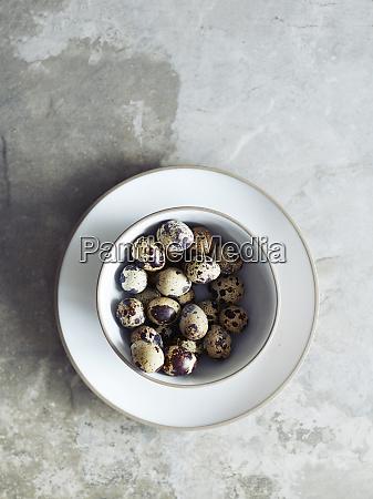 bowl of quail eggs