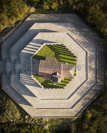 aerial view of saint anthonys sanctuary