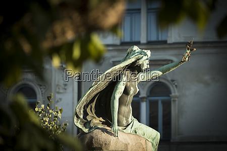 statue old town ljubljana slovenia