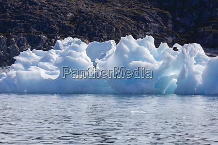 melting polar ice on sunny atlantic