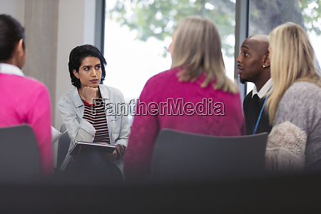 support group talking in circle