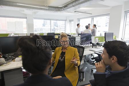 business people talking meeting in open