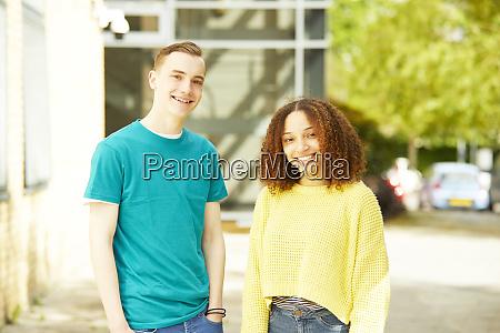 portrait confident college students
