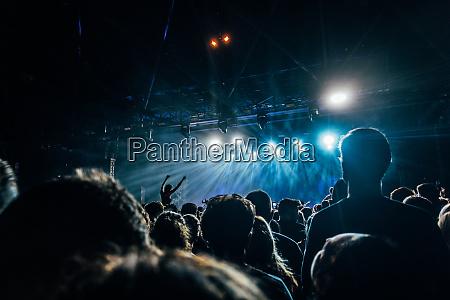 crowd enjoying music concert