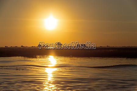 sunset on chobe river botswana africa