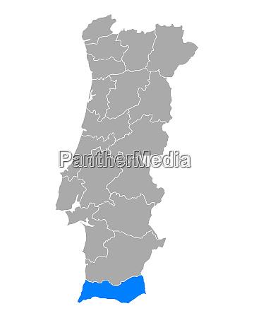 map of faro in portugal