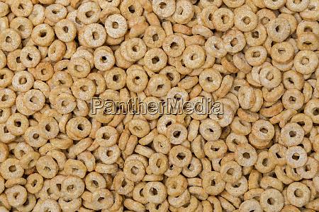 oat rings macro detail background