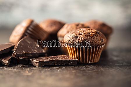 tasty chocolate muffins sweet cupcakes