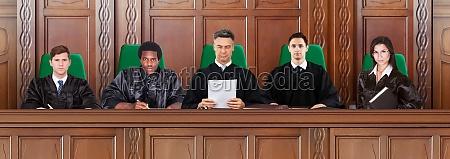 judges at trial hearings