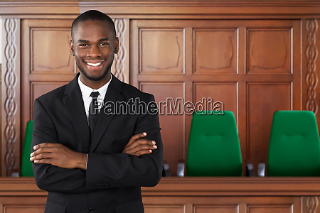 attorney in courtroom