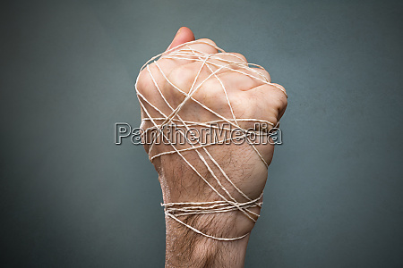 hand tied with wire