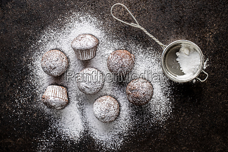 tasty, chocolate, muffins., sweet, cupcakes. - 28135257