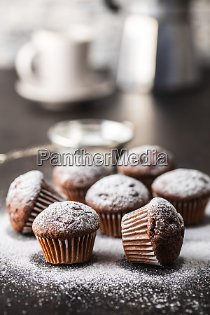 tasty, chocolate, muffins., sweet, cupcakes. - 28135258