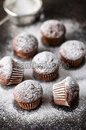 tasty, chocolate, muffins., sweet, cupcakes. - 28135259