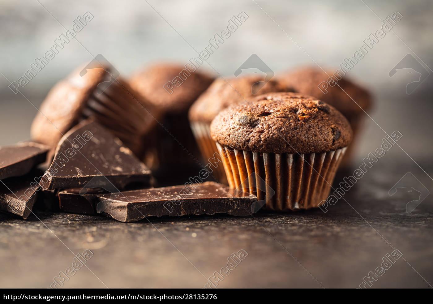 tasty, chocolate, muffins., sweet, cupcakes. - 28135276