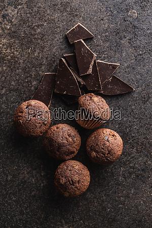 tasty, chocolate, muffins., sweet, cupcakes. - 28135277