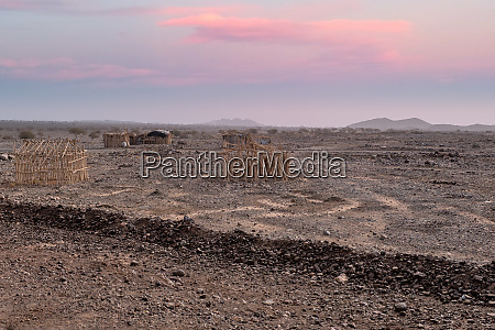 hut in the remote region of