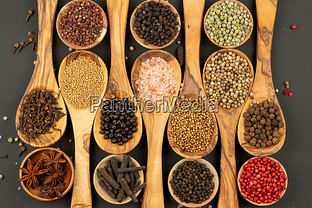 spice and food background made