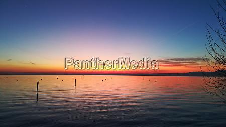 sunset at garda lake italy italian