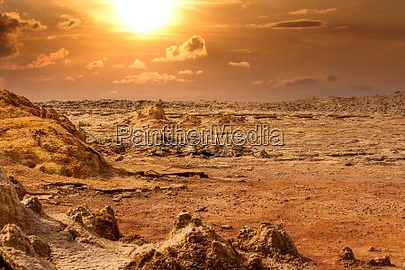 abstract landscape in dallol danakil depression