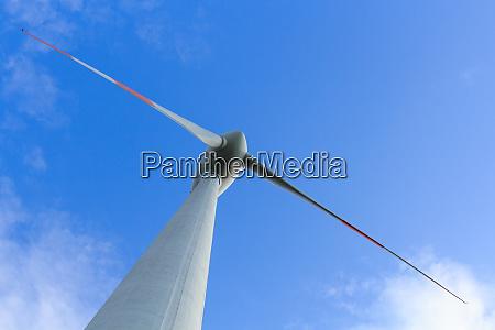low angle view of wind turbine