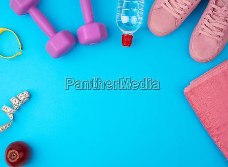 plastic purple dumbbells sportswear water pink