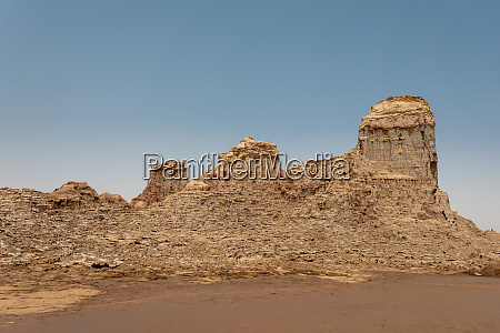 moonscape of dallol lake danakil depression