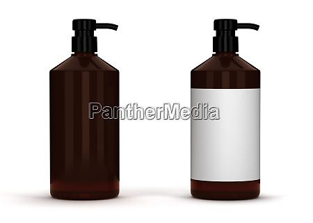 blank brown package