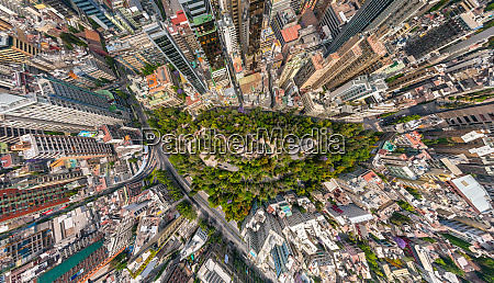 aerial view of santiago chile