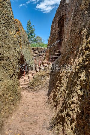 exterior labyrinths lalibela ethiopia
