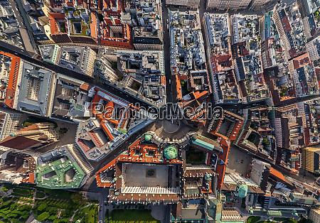 aerial view of vienna austria