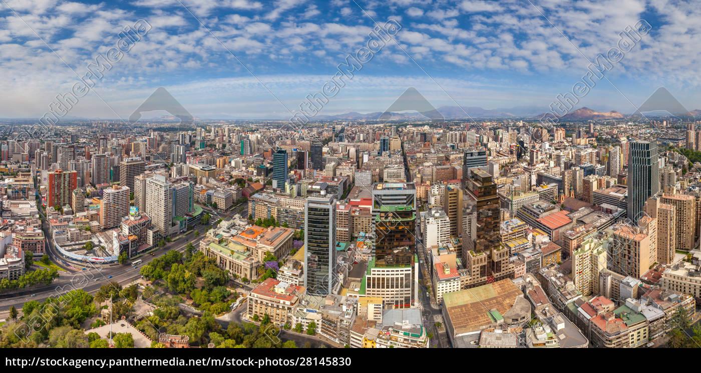 panoramic, aerial, view, of, santiago, , chile - 28145830