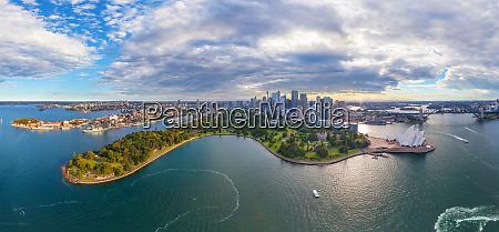 panoramic aerial view of sydney australia