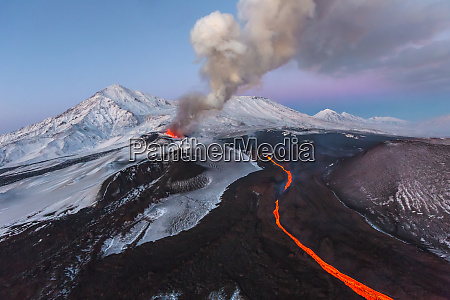 aerial view of kamchatka russia