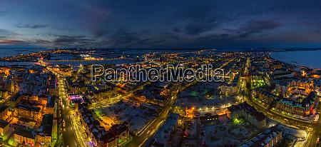 panoramic aerial view of yamal peninsula