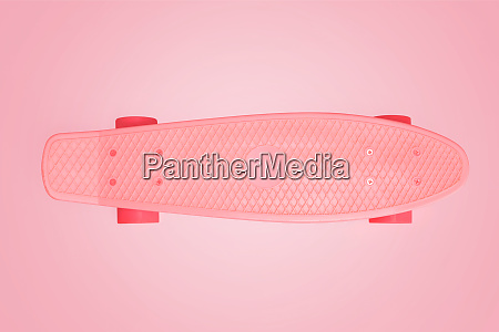 skate board on pink background with