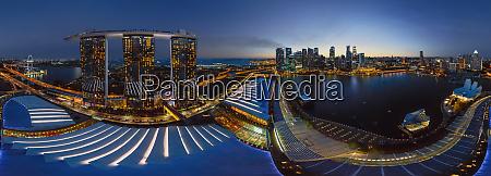 panoramic aerial view of singapore