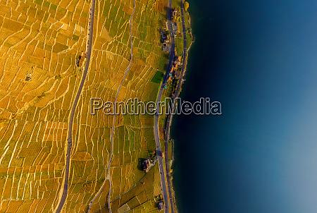 aerial view ofswiss riviera switzerland