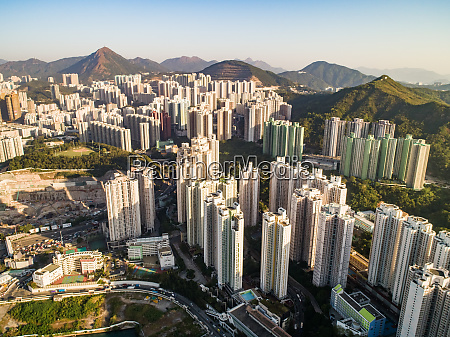 aerial view of kwun tong district