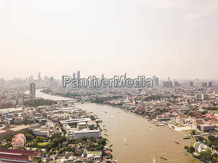 aerial view of the chao phraya
