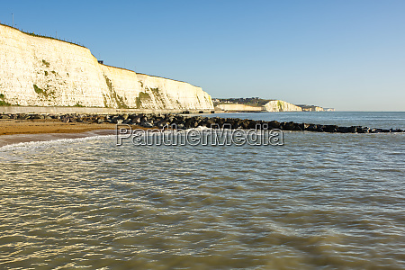 chalk cliffs at rottingdean east sussex