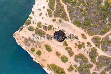 aerial view of lagoa portugal