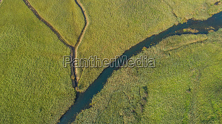 aerial view of norin river near