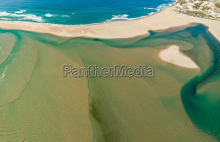 aerial view of lagoa de Obidos