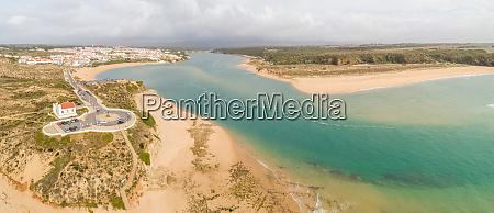 panoramic aerial view of praia de