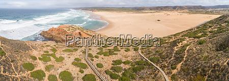 panoramic aerial view of praia da